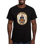 USS BRISCOE Men's Fitted T-Shirt (dark)