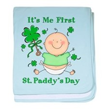 Me 1st St. Paddy's Day baby blanket