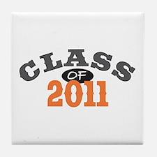 Class Of 2011 Orange Tile Coaster