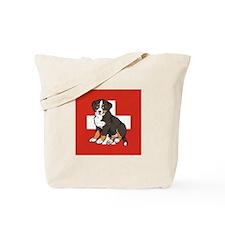 Sitting Bernese Puppy (Swiss) Tote Bag
