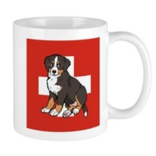 Sitting Bernese Puppy (Swiss) Mug