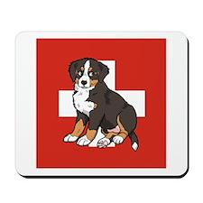 Sitting Bernese Puppy (Swiss) Mousepad