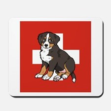 Sitting Bernese Puppy (Swiss) Mousepad