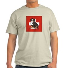 Sitting Bernese Puppy (Swiss) T-Shirt