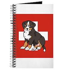 Sitting Bernese Puppy (Swiss) Journal