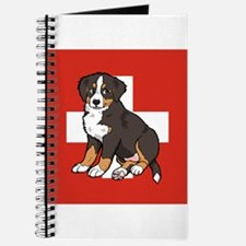 Sitting Bernese Puppy (Swiss) Journal