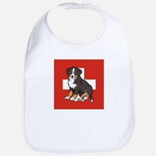 Sitting Bernese Puppy (Swiss) Bib