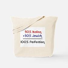 Half Italian, Half Jewish Tote Bag