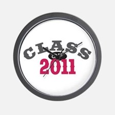 Class of 2011 Red Wall Clock