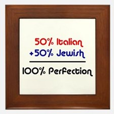 50% Jewish + 50% Italian = 10 Framed Tile