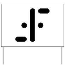 V Symbol Visitors TV Yard Sign