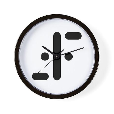 V Symbol Visitors TV Wall Clock