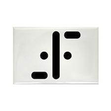 V Symbol Visitors TV Rectangle Magnet