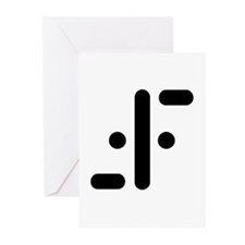 V Symbol Visitors TV Greeting Cards (Pk of 10)