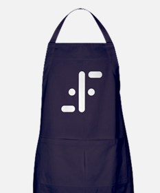 V Symbol Visitors TV Apron (dark)