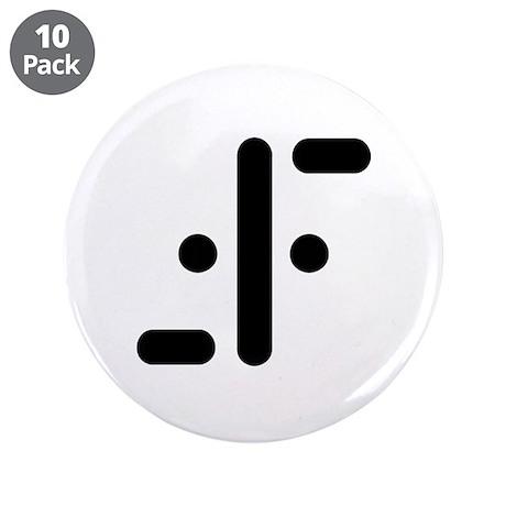 """V Symbol Visitors TV 3.5"""" Button (10 pack)"""
