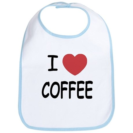 I heart coffee Bib