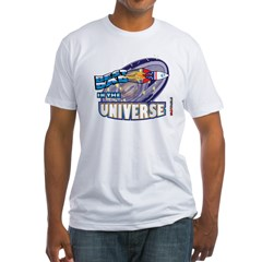 Best Dad in the Universe Dark Fitted T-Shirt