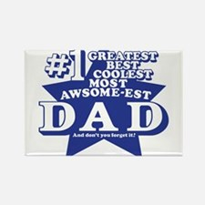Greatest Coolest DAD Rectangle Magnet