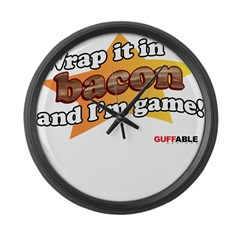 Wrap it in Bacon and I'm game Large Wall Clock