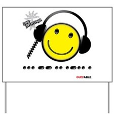 Morse Code - Smile Yard Sign