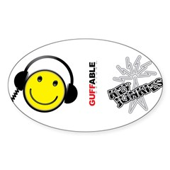 KEY JUNKIES Sticker (Oval 10 pk)