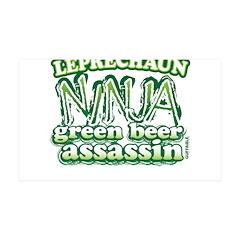 Leprechaun Ninja 38.5 x 24.5 Wall Peel