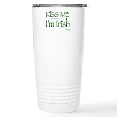 Kiss Me I'm Irish Travel Mug