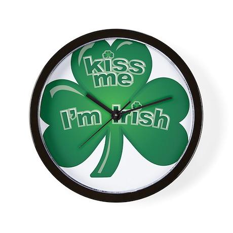 St Patrick's Day - Kiss Me Wall Clock