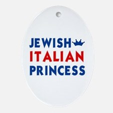 Jewish Italian Princess Oval Ornament