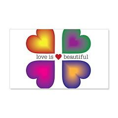 LOVE IS BEAUTIFUL 22x14 Wall Peel