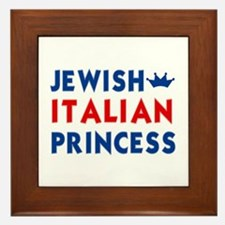 Jewish Italian Princess Framed Tile