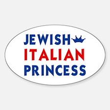 Jewish Italian Princess Oval Decal