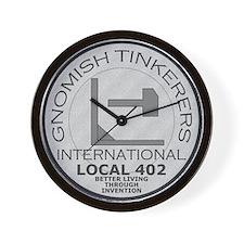 Gnomish Tinkerers Union Wall Clock