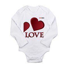 LOVE... Long Sleeve Infant Bodysuit