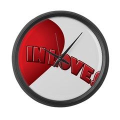 LEFT SIDE - valentine's day h Large Wall Clock