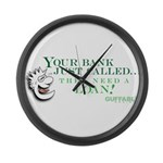 Your Bank Just Called... Large Wall Clock