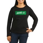 Greedy St. Women's Long Sleeve Dark T-Shirt