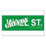 Greedy St. Sticker (Rectangle 10 pk)