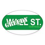 Greedy St. Sticker (Oval 50 pk)