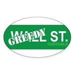 Greedy St. Sticker (Oval 10 pk)