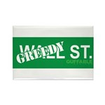 Greedy St. Rectangle Magnet (100 pack)