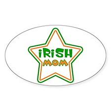 Irish Mom Oval Decal
