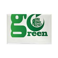 Go Green Rectangle Magnet (100 pack)