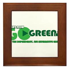 Go Green! Framed Tile