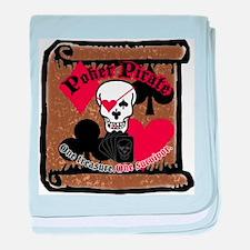 Poker Pirate Scroll baby blanket
