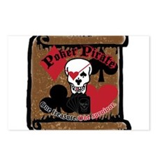 Poker Pirate Scroll Postcards (Package of 8)