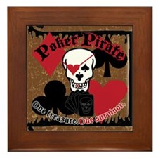 Poker Pirate Scroll Framed Tile