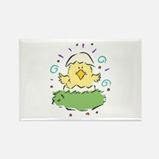 Baby Chick in Egg Rectangle Magnet