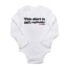 100% regiftable! Long Sleeve Infant Bodysuit